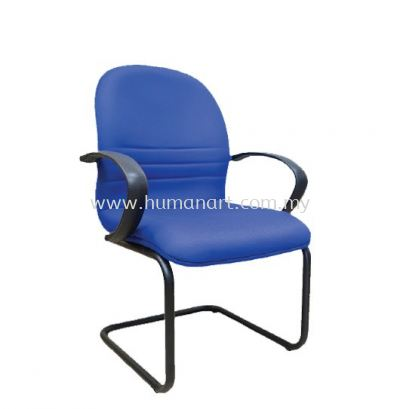 HYDE STANDARD VISITOR CHAIR WITH EPOXY BLACK CANTILEVER BASE WITH ARMREST HS4