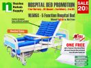 NL505S [Full Set] Hospital Bed 5 Functions (Manual) Manual Hospital Beds Hospital Beds