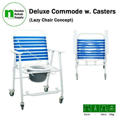 NL005 Deluxe Commode (Castors)