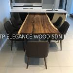 Solid Wood Table 90''
