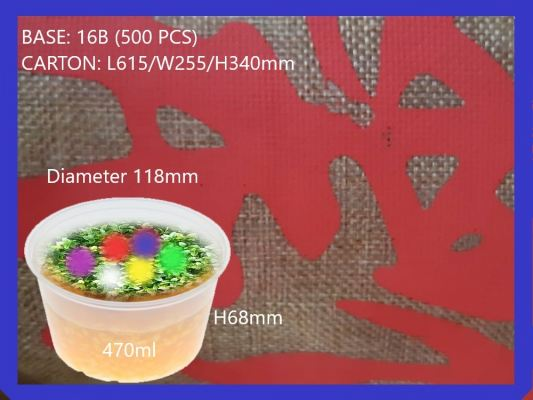 BASE ROUND CONTAINER 16B (500 PCS)