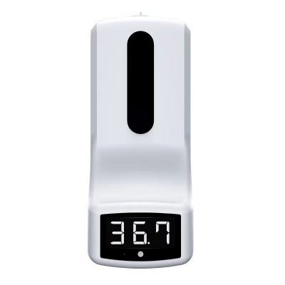 K9 Automatic 450 Ml Pump Thermometer Hand-Sanitizer ABS Hand Sanitizer Dispenser with Sensor