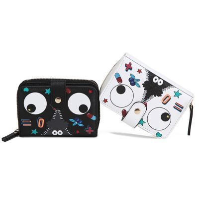 EYE THEME FASHION SHORT WALLET