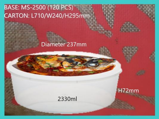 MS-2500 BASE ONLY ROUND LARGE CONTAINER (120 PCS)