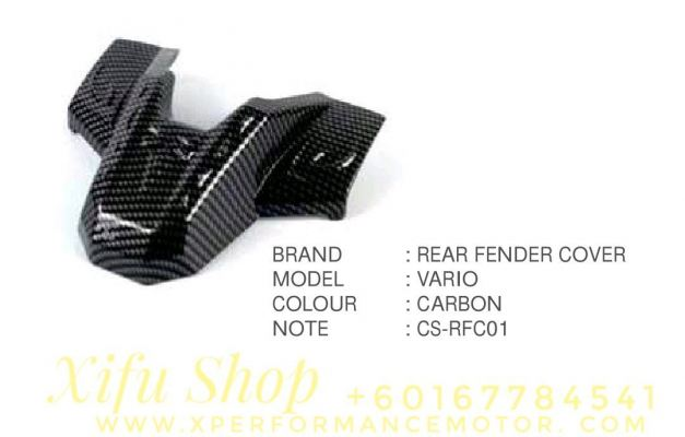 REAR FENDER COVER ACCESSORIES HONDA VARIO 150 CARBON