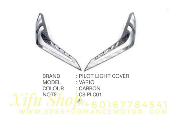 FRONT PILOT LIGHT COVER ACCESSORIES HONDA VARIO 150 CARBON