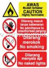 Highly Flammable Signage Safety Signs