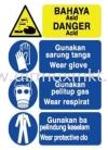 Danger Acid Signage Safety Signs