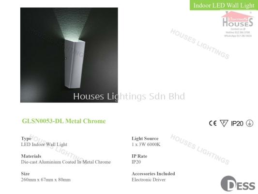GLSN0053-DL Metal Chrome IP20