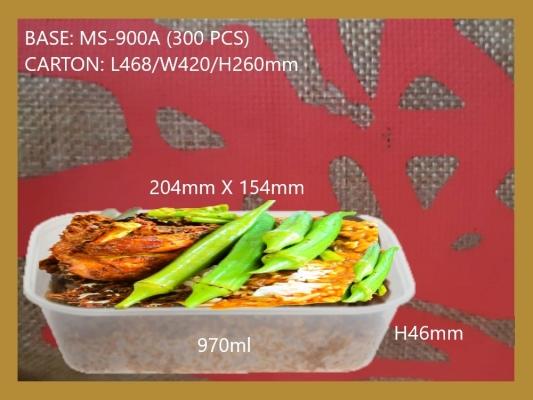 BASE RECTANGULAR CONTAINER 900A (300 PCS)