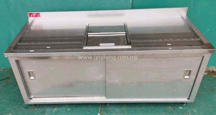 Stainless Steel Tea Counter for Bubble Tea with Ice Bin �׸ֳ��̨���̲裬���ݲ裩���Ͱ