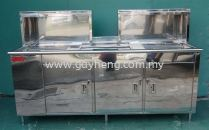 Stainless Steel Sink for Bubble Tea with PU double insulation S/S ice bin 白钢洗盆(奶茶,泡泡茶)配PU双层白钢冰桶