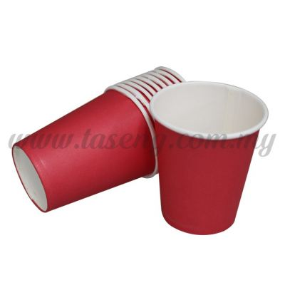 Paper Cup Plain Red 10pcs (P-PC-PR2)