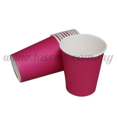 Paper Cup Plain Pink 10pcs (P-PC-PP2)
