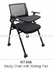 NT-888 STUDY CHAIR WITH WRITING PAD