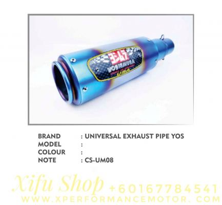 EXHAUST MUFFLER RACING UNIVERSAL 51MM CS-EM08