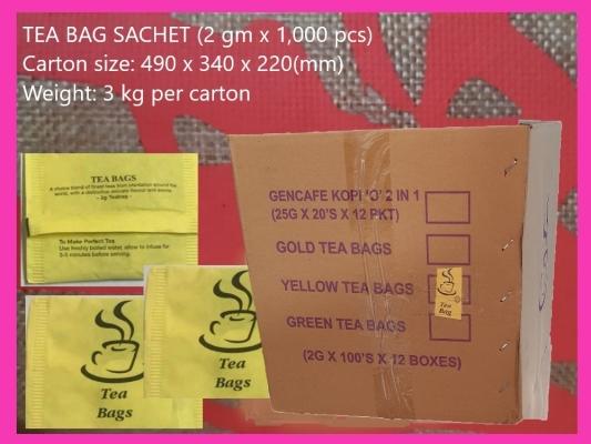 SACHET PACK TEA BAG 2g (1000 PCS)