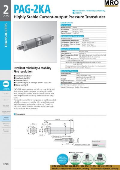 Highly Stable Current-output Pressure Transducer