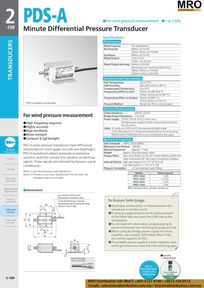 Minute Differentiate Pressure Transducer PDS-A
