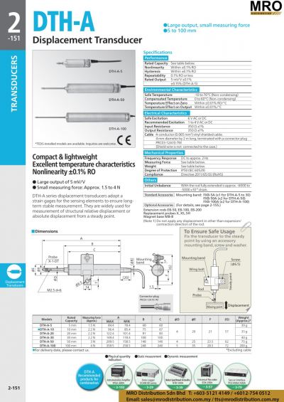 Displacement Transducer DTH-A