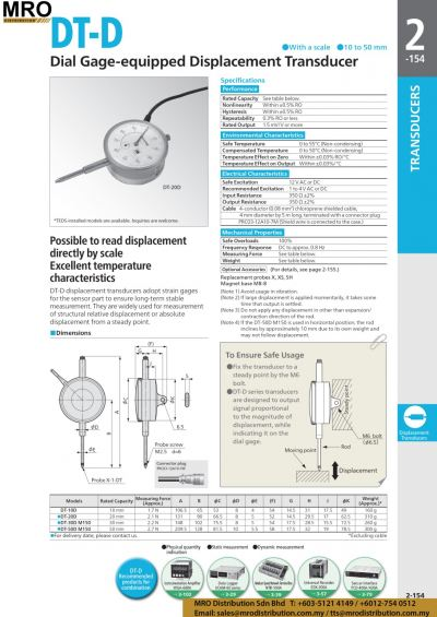 Dial Gage-equipped Displacement Transducer DT-D