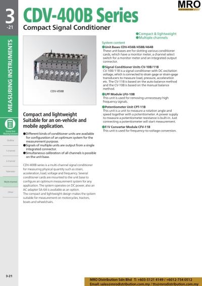 Compact Signal Conditioner CDV-400B Series