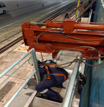 Install Winch Sling Wire on Cylindrical Platform MECHANICAL WORKS
