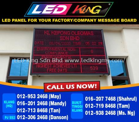 LED Panel For Factory - A Safety First Tools
