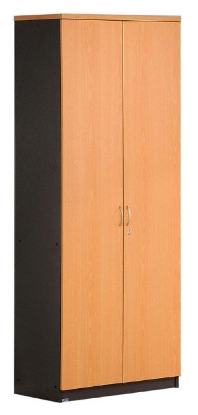 High swing door cabinet with chrome handle (Beech and Dark grey)