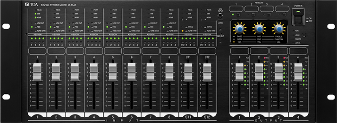 M-864D. TOA Digital Stereo Mixer. #AIASIA Connect