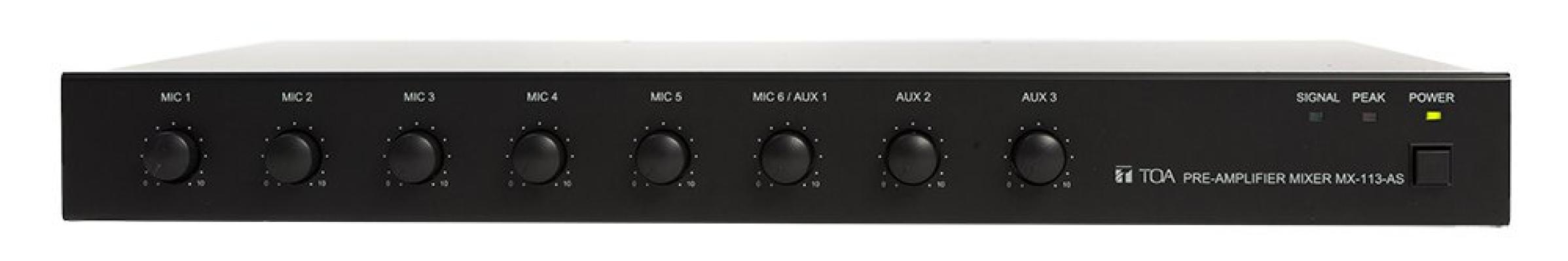 MX-113. TOA Pre-Amplifier Mixer. #AIASIA Connect