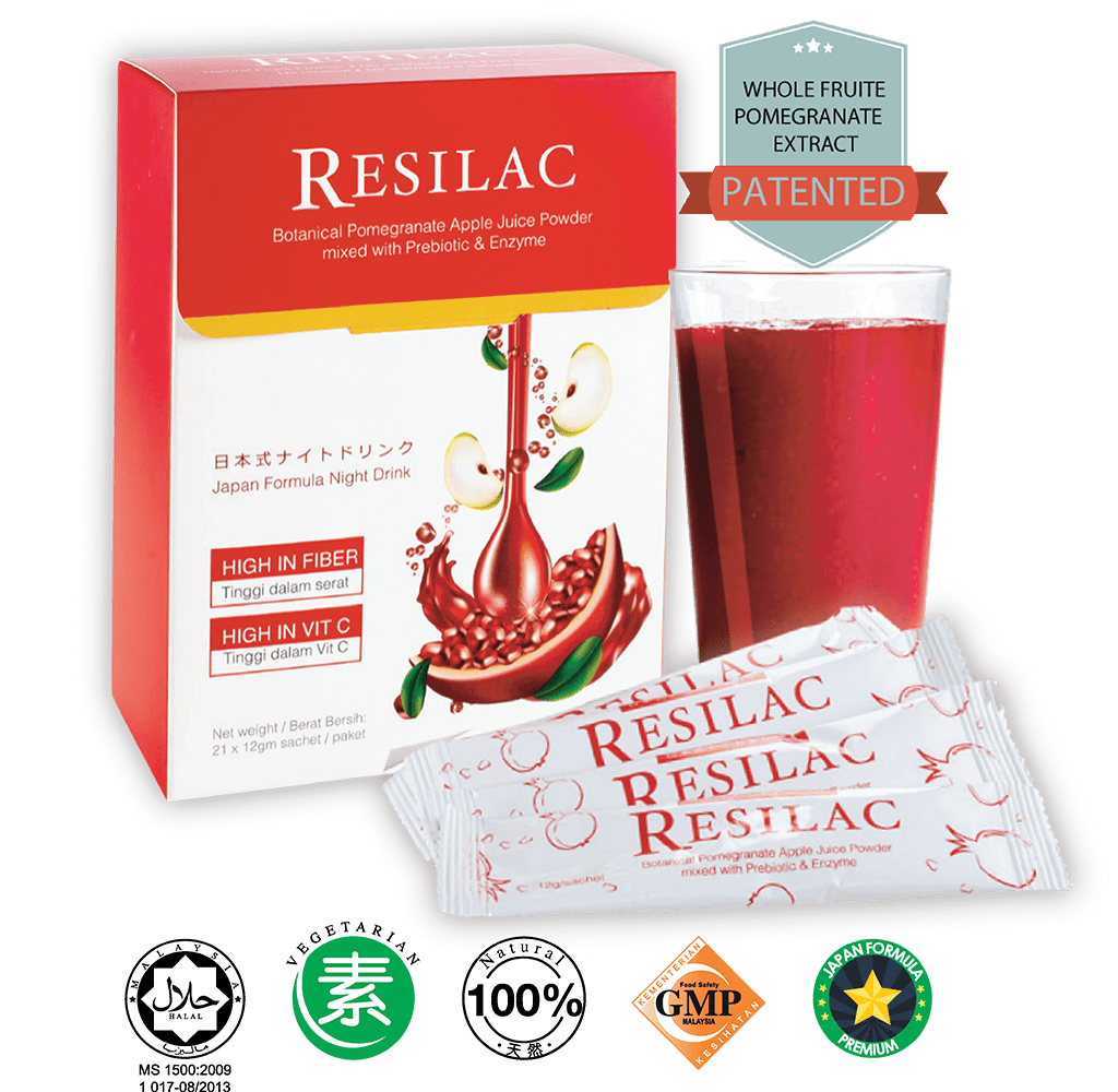 Resilac Botanical Pomegranate Apple Juice Powder 21x12g Sachet