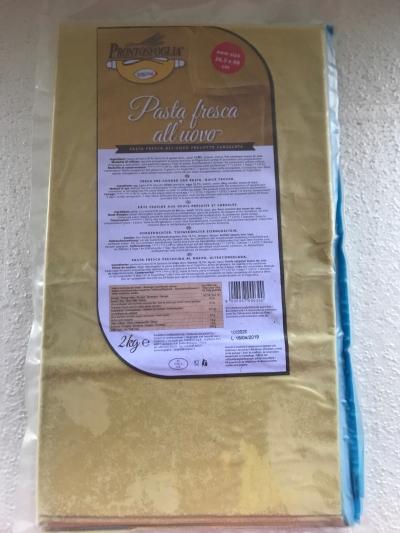 Yellow Lasagna Sheet (48x25cm) - 12pcs