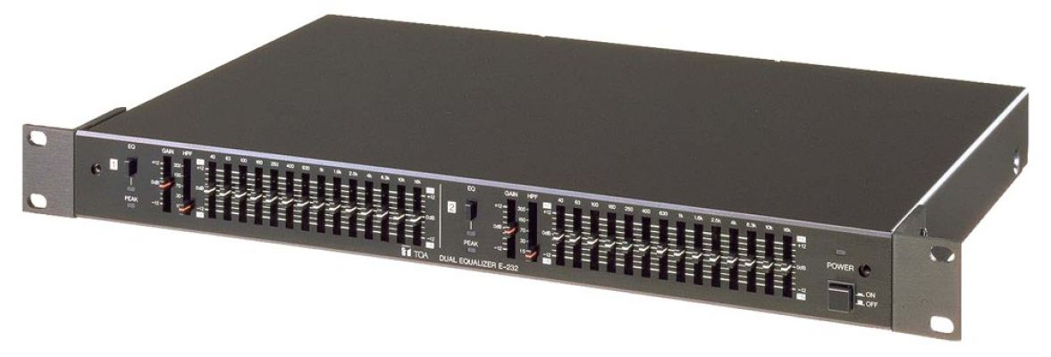 E-232. TOA 2-Channel 2/3 Octave Graphic Equalizer. #AIASIA Connect