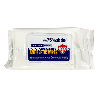 80pcs 75% Alcohol Disinfectant Wipes