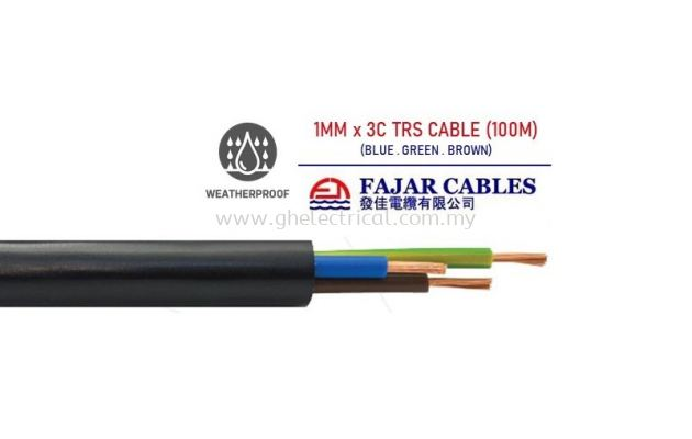 Fajar 0.75mm-6mm X 3c Trs Cable