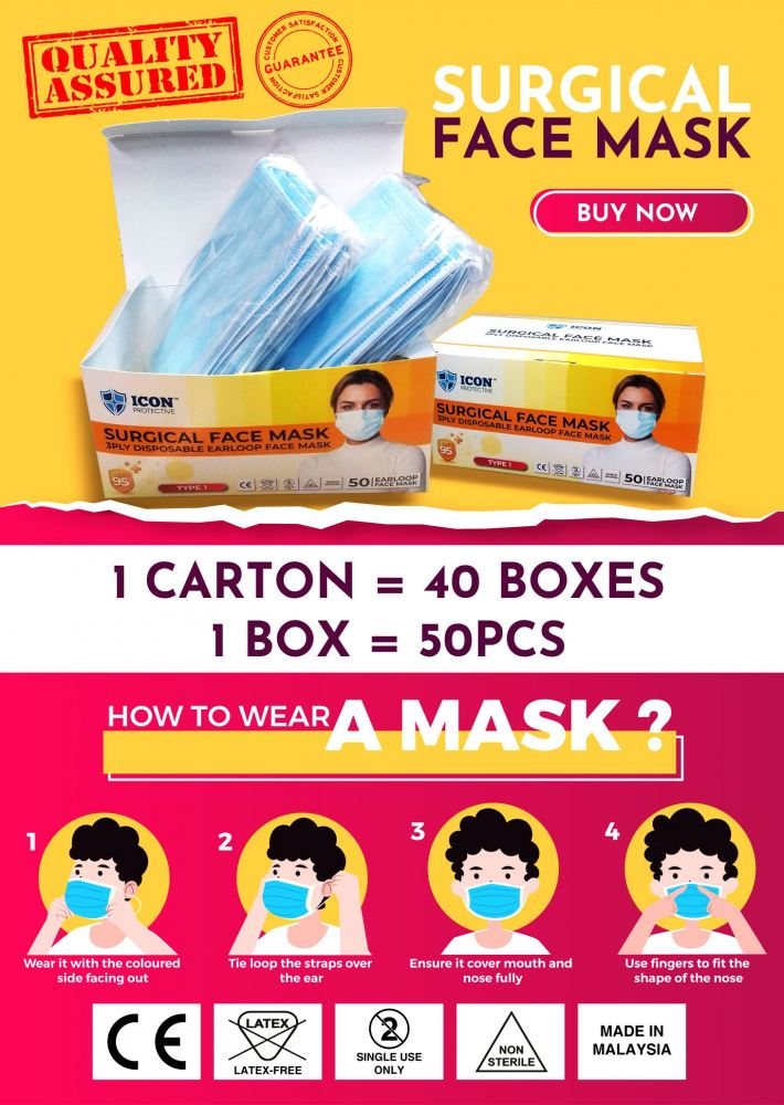 Surgical Mask @malaysiauniform BUY NOW!!!