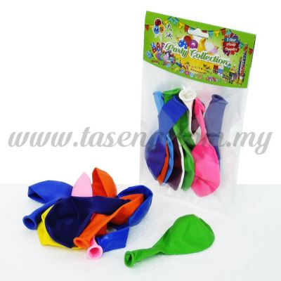 12 inch Standard Balloon Assorted Color 8pcs (B-SM8)