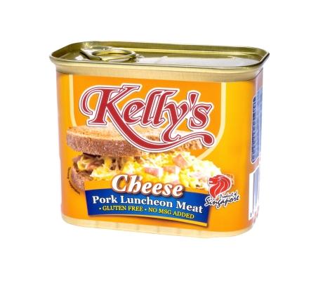 凯利的品牌猪肉奶酪午餐肉