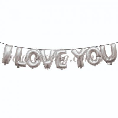 17inch I Love You Foil Balloon Set *Silver (FB-WD-S1702S)