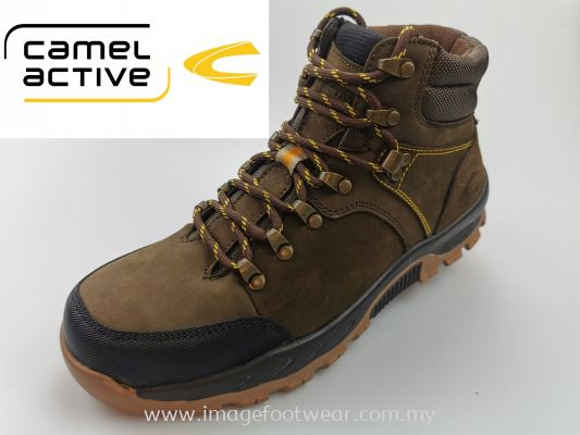 CAMEL ACTIVE High Cut Full Leather Men Shoes-CA-881956-1-33 COFFEE Colour