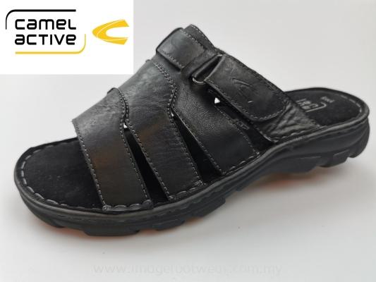 CAMEL ACTIVE Full Leather Men Shoes-CA-891955-02-1 BLACK Colour