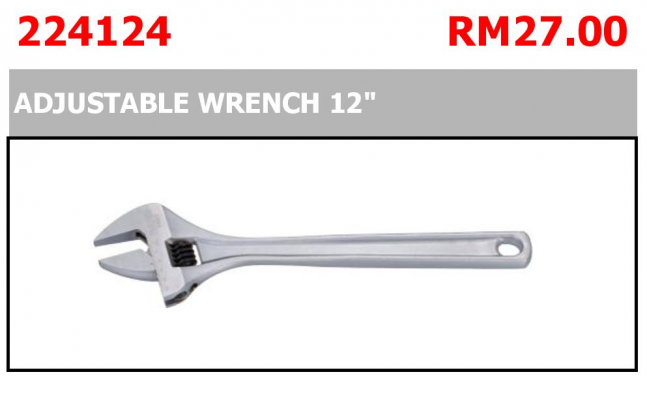 """ADJUSTABLE WRENCH 12"""" P/N: 224124"""