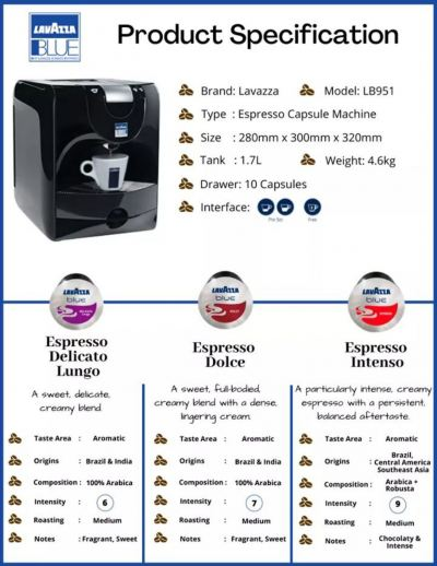 Lavazza Coffee Capsule & Machine