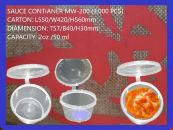 SAUCE CONTIANER WITH LID MW-200 (3,000 PCS)