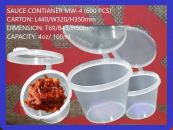 SAUCE CONTIANER WITH LID MW-400 (600 PCS)
