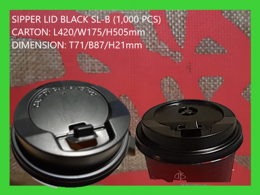 SL-BLACK SIPPER LID (1,000 PCS)