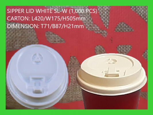 SL- WHITE SIPPER LID (1,000 PCS)