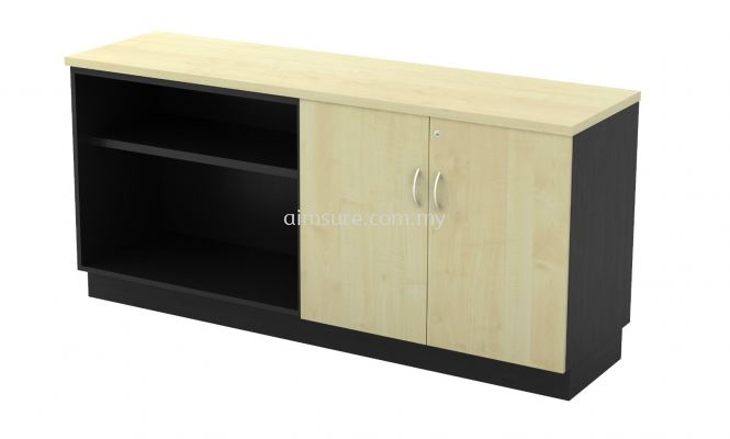 Open Shelf + Swinging Door Low Cabinet T2