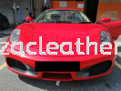 FERRARI 2 SEATERS SEAT REPLACE NAPPA LEATHER WITH LOGO Car Leather Seat